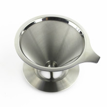 2 Cups 4 Cups Double Wall Stainless Steel Reusable Coffee Filter